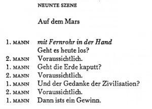 """K. Schwitters: """"Zusammenstoß"""" (Auszug, © G. Kiepenheuer Bühnenvertriebs-GmbH)"""