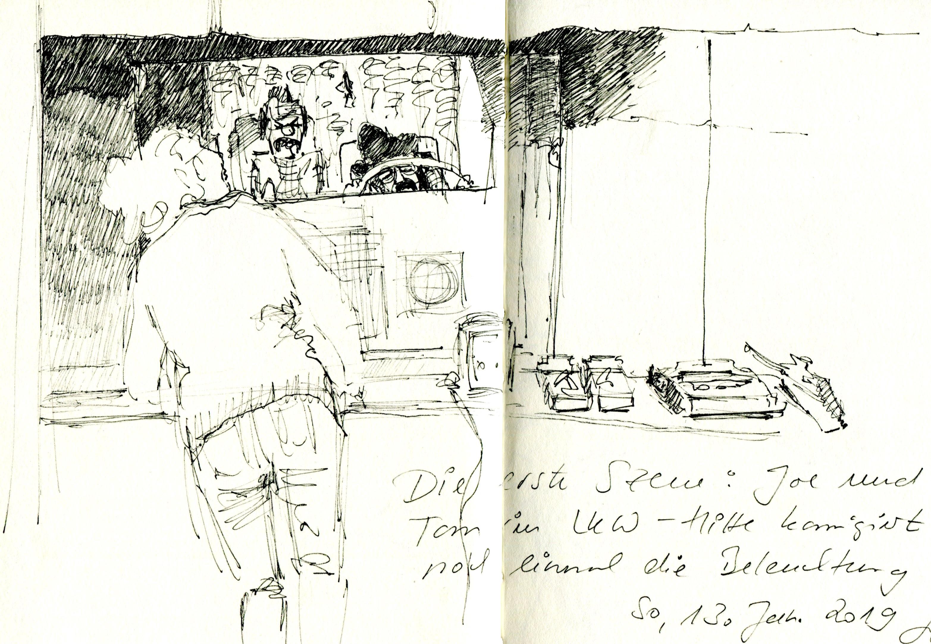 Tom und Joe (© Gisela Knuth / Urban Sketchers Munich)